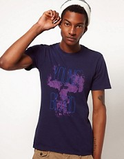 Paul Smith Jeans T-Shirt with Young Blood Skull Print