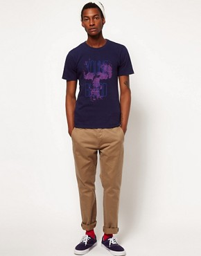 Image 4 ofPaul Smith Jeans T-Shirt with Young Blood Skull Print