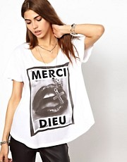 Religion Merci Dieu Print T-Shirt
