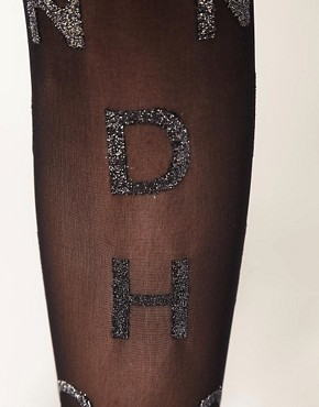 Image 2 of House Of Holland For Pretty Polly Alphabet Lurex Tights