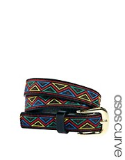 ASOS CURVE Aztec Waist Belt