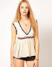 Sass & Bide - Fighting Fire with Fire - Top in misto seta
