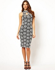 Lipsy Lace Dress with Keyhole Detail