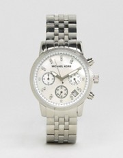 Michael Kors Silver Chronograph Bracelet Watch