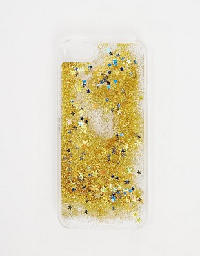 Skinny Dip iPhone 5 Gold Liquid Glitter Case
