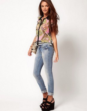 Image 4 ofRiver Island Skinny Molly Jeans