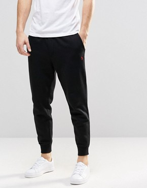 Polo Ralph Lauren Sweatpants With Cuffed Bottom In Black
