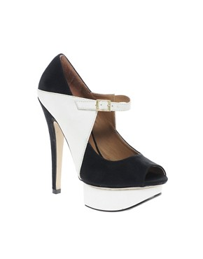 Image 1 ofNew Look Tone Peep Toe Platform Shoes