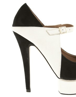 Image 2 ofNew Look Tone Peep Toe Platform Shoes