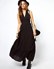 ASOS Maxi Dress With Halterneck