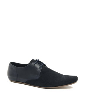 Image 1 ofH By Hudson Lester Suede Perforated Shoes