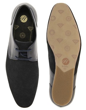 Image 4 ofH By Hudson Lester Suede Perforated Shoes