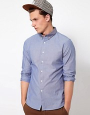 ASOS Denim Shirt With Contrast Collar