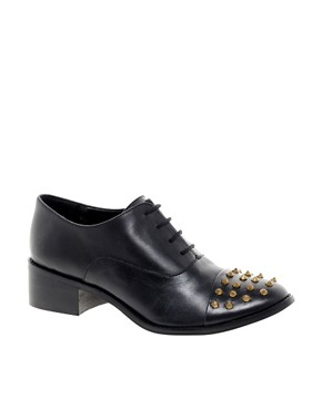 Image 1 ofASOS MIGHTY Studded Leather Shoes