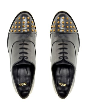 Image 2 ofASOS MIGHTY Studded Leather Shoes