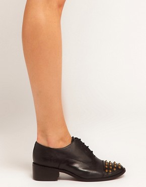 Image 3 ofASOS MIGHTY Studded Leather Shoes