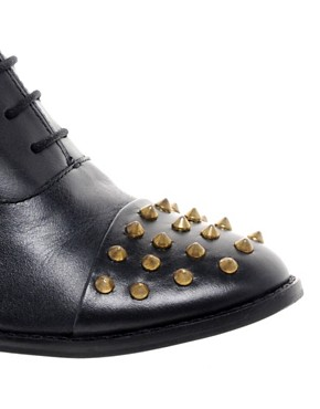 Image 4 ofASOS MIGHTY Studded Leather Shoes
