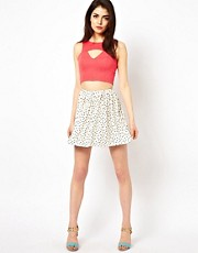 Oh My Love Polka Skater Skirt