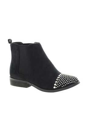Image 1 ofNew Look Brixton Studded Toe Cap Ankle Boots