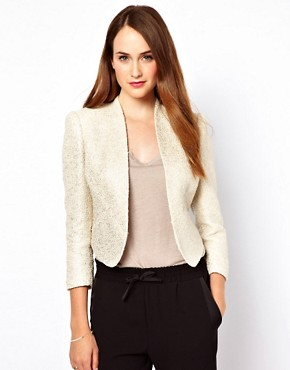 Image 1 ofTed Baker Metallic Boucle Jacket