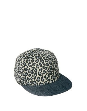 Image 2 ofASOS Snap Back Cap with Leopard Print