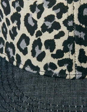 Image 3 ofASOS Snap Back Cap with Leopard Print