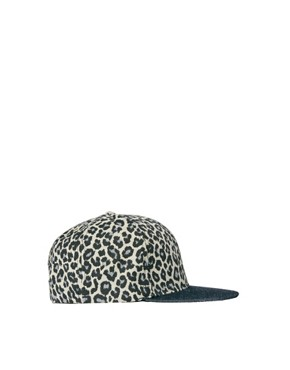 Image 1 ofASOS Snap Back Cap with Leopard Print