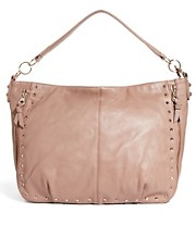 Warehouse Studded Zippy Slouch Bag