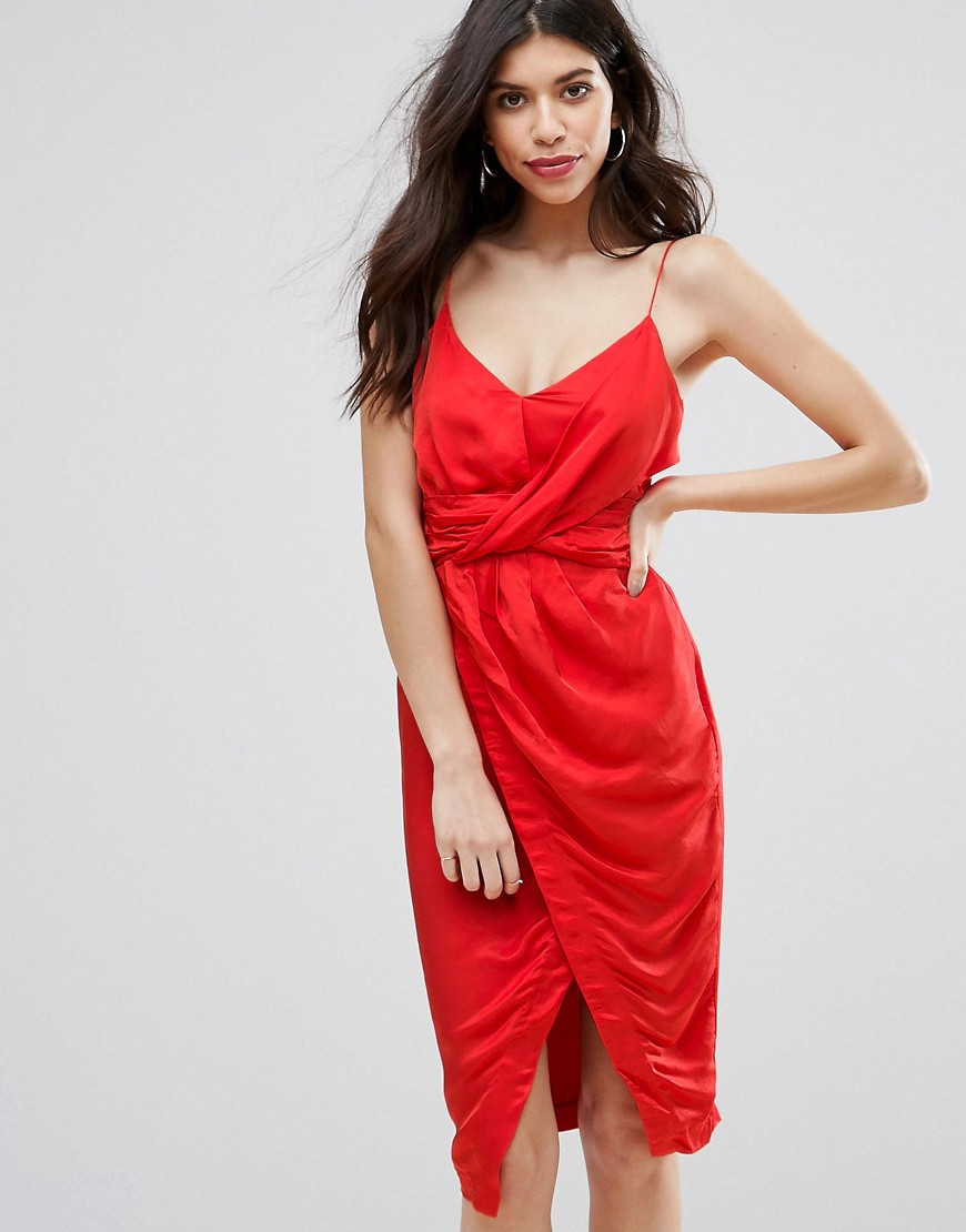 Talulah Cara Wrap Dress - Red