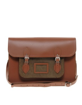 Image 1 ofThe Cambridge Satchel Company 15&quot; Leather Satchel with Cord Pocket
