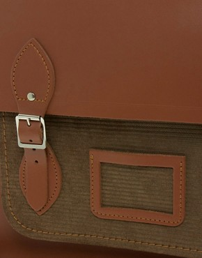 Image 2 ofThe Cambridge Satchel Company 15&quot; Leather Satchel with Cord Pocket
