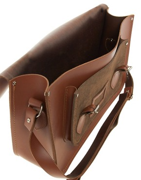 Image 4 ofThe Cambridge Satchel Company 15&quot; Leather Satchel with Cord Pocket