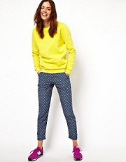 ASOS Trousers in Micro Geo Print