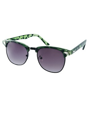 Image 1 ofASOS Clubmaster in Green Tort