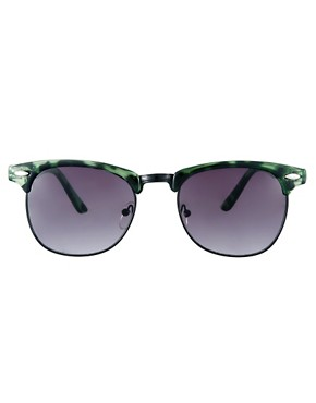 Image 2 ofASOS Clubmaster in Green Tort