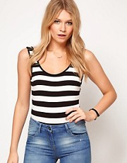 ASOS Body with Scoop Back in Stripe