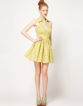 Image 4 of ASOS Printed Summer Dress With Collar