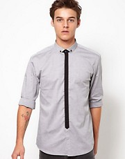 Selected Shirt with Contrast Plackett