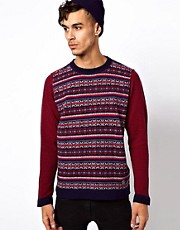 Love Moschino Jumper with Fair Isle Print