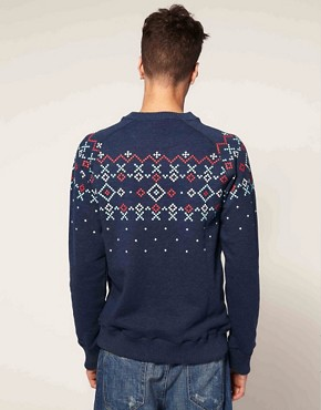 Bild 2 von Supremebeing  Ruin  Sweatshirt mit Rundhalsausschnitt und Argyle-Muster