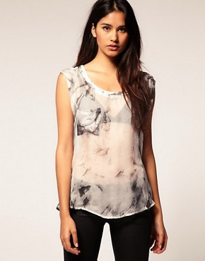Image 1 ofSupertrash Sheer Shirt With Pocket Detail