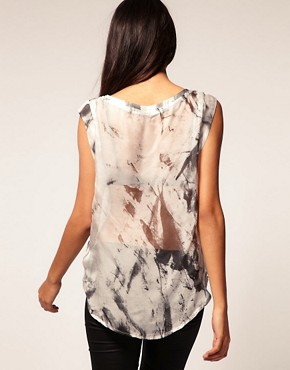 Image 2 ofSupertrash Sheer Shirt With Pocket Detail