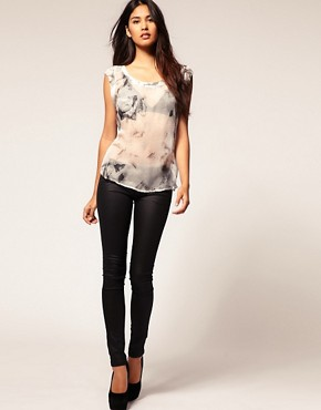 Image 4 ofSupertrash Sheer Shirt With Pocket Detail