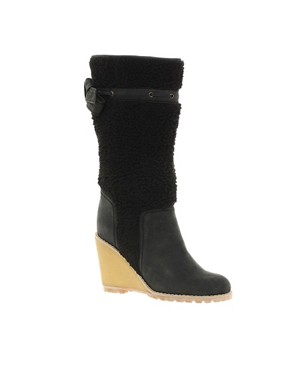 Image 1 ofSee By Chloe Shearling Boots