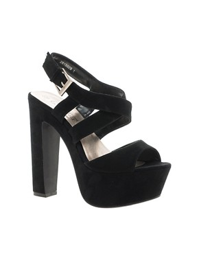 Image 1 ofNew Look Scraper Platform Sandals