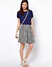 BZR Wave Printed Skirt