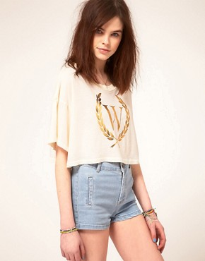 Image 1 ofWildfox Beach Club Cropped T-Shirt