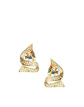 Image 1 ofASOS Multi Rhinestone Swirl Earrings