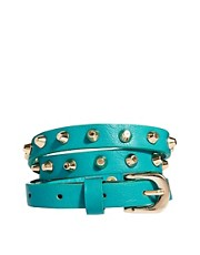New Look Tailoring Skinny Stud Belt