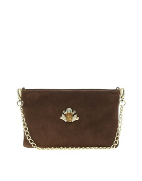 Image 1 ofLove Moschino Sparkling Suede Frog Bag